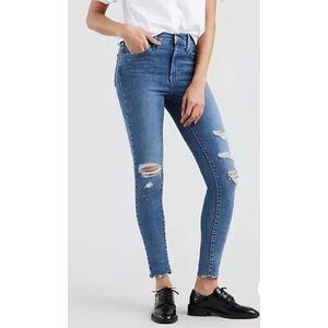 Levi's 720 High Rise Super Skinny Destructed Jeans